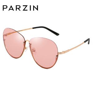 帕森太阳镜 女士金属半框修脸彩色透明镜片潮墨镜 2018新品7702
