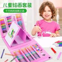 176双画板儿童水彩笔绘画套装可洗彩色笔画画彩铅画笔蜡笔油画棒