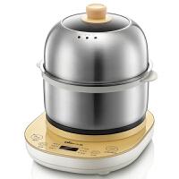 小熊(Bear) 煮蛋器 双层预约定时蒸蛋器煎蛋器 多功能全不锈钢自动断电早餐机 黄色 ZDQ-A14E6