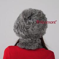 kenmont卡蒙 帽子 兔毛贝雷帽 手工帽子冬帽1248