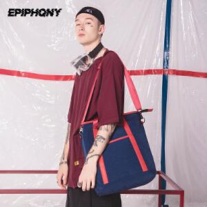 Epiphqny2018新款原创潮流多功能防水男士背包休闲可手提双肩背包