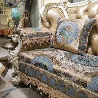 欧式皮沙发垫防滑四季通用布艺坐垫客厅123组合套罩全盖