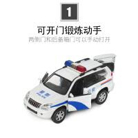 警车玩具合金玩具车回力1:32儿童小汽车仿真警察车汽车模型男孩