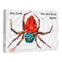 【中商原版】The Very Busy Spider 英文原版 非常忙的蜘蛛纸板书 Eric Carle艾瑞卡尔爷爷经