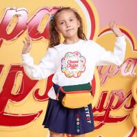 361度女童装套头卫衣冬季新品 K62012302