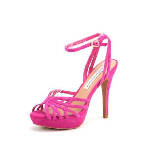 【3折到手价140.7元】迪芙斯夏季羊皮系带组合脚踝绑带高跟女凉鞋女鞋DF52112010