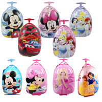 卡通迪士尼ABS儿童蛋壳拉杆箱   儿童旅行包 蛋壳拉杆书包