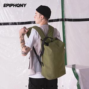 Epiphqny2018新款潮男旅行双肩包撞色防水多功能复刻经典水桶背包