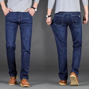 2018新款男士牛仔裤四季弹力直筒修身潮流青年休闲宽松新款裤