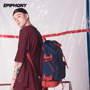 Epiphqny2018新款时尚潮流防水旅行短途背包大学生休闲双肩背包男