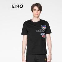 BURANDOENO潮牌男士印花短袖T恤青年圆领潮流上衣 E7SUM42006