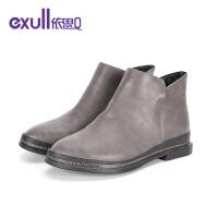 【依思q冬上新 限时特惠】依思Q新款秋冬季低跟粗跟时尚女靴17183081