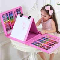儿童礼物绘画套装水彩笔画笔女孩生日文具儿童学习用品花架画画笔