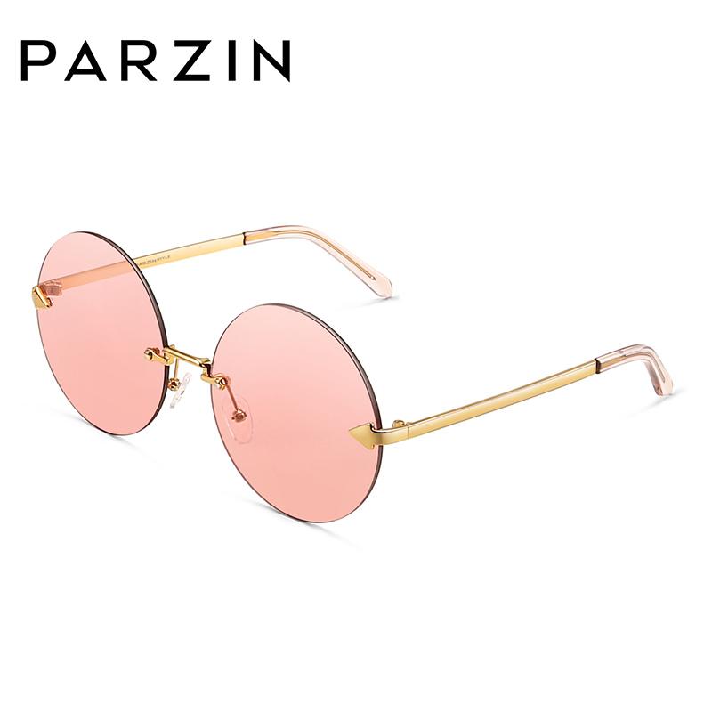 帕森太阳镜女士金属箭头圆框个性迷幻浅色复古镜片潮墨镜9790
