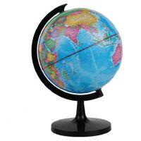 得力3033地球仪20cm 标准教学经典中文地形