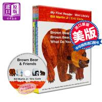 【中商原版】Brown Bear What Do You See棕色的熊4册套装 CD 英文原版 儿童绘本 畅销儿童图