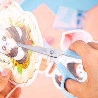 得力儿童安全剪刀手工小剪刀3-6岁圆头剪纸剪子创意小号学生用小朋友美术课文具迷你便携随身美工不锈钢剪刀