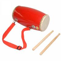 12cm儿童腰鼓儿童乐器 头层水牛皮腰鼓 舞蹈鼓娃娃秧歌舞蹈腰鼓乐器
