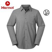 Marmot/土拨鼠2020春夏款运动户外吸湿休闲衬衣男士长袖速干衬衫