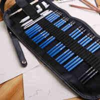 施德楼铅笔 马可初学素描套装 18支素描铅笔+炭笔+橡皮+笔帘+美工刀 素描工具