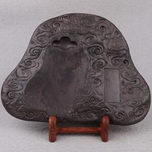 中国非物质文化遗产传承人群 钟景锐作品《祥云》 砚 斧柯东