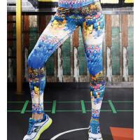 速干印花 健身裤女 健身房紧身弹力 瑜伽九分跑步运动裤 支持礼品卡