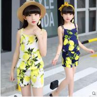 儿童裤吊带两件套中大童女童休闲百搭套装户外新款童装韩版时尚