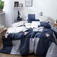 纯棉大学生宿舍单人床单3三件套全棉被套寝室上下铺0.9m米条纹男