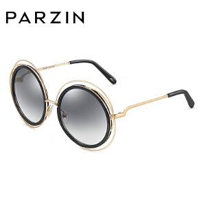 帕森时尚太阳镜新品女士金属板材镂空圆框修脸尼龙镜片潮墨镜9788