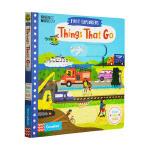【中商原版】小小探索家 交通工具 英文原版 Things That Go 纸板机关操作书 3-6岁