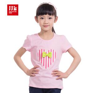季季乐童装夏季时尚休闲短袖棉T恤GXT53139