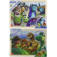 【当当自营】迪士尼拼图玩具 60片木质框式拼图二合一(怪兽大学36DF2488+恐龙当家36DF2489)