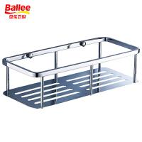 贝乐BALLEE浴室卫浴挂进 单层方形加长不锈钢网篮 不锈钢多用置物架 不锈钢角架 TL001-3