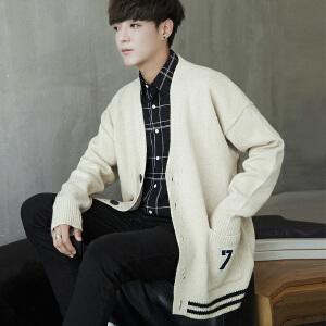 推荐指数:★★★★★秋装时尚韩版男士针织开衫外套休闲宽松毛衣开衫新款