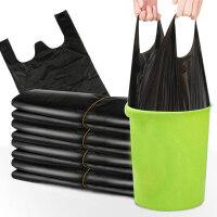 加厚垃圾袋一次性手提式�R甲袋家用�N房宿舍袋背心式塑料袋垃圾袋