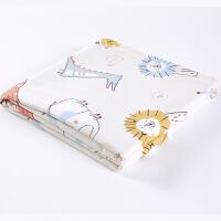 全棉时代幼儿四层纱布被100%纯棉柔软舒适透气被毯午睡空调被子120x135cm