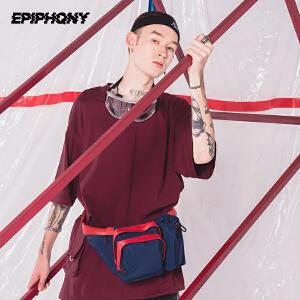 Epiphqny2018新款原创运动多功能腰包男大容量旅行帆布防水胸包