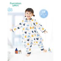 全棉时代 彩色建筑幼儿纱布厚款可拆袖分腿睡袋80cm×50cm, 1件装