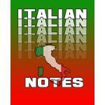 预订 Italian Notes: Italian Journal, 8x10 Composition Book, B