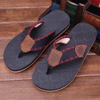 拖鞋男夏季人字拖防滑橡胶休闲夹脚沙滩凉拖鞋男士新款夏天潮拖鞋
