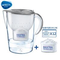 碧然德(BRITA) 过滤净水器 家用滤水壶 净水壶 星光 Marella3.5L月光银 1壶12芯