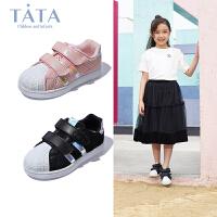 【到手价:167.6元】tata童鞋2020春款新款儿童鞋女童小白鞋韩版学生运动鞋休闲板鞋潮