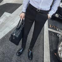 男裤西裤男秋季修身休闲裤男士韩版潮流商务免烫青年小脚西装裤长裤子