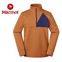 Marmot/土拨鼠运动户外休闲吸湿排汗男式套头抓绒衣