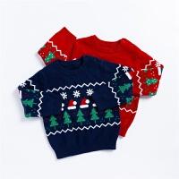 贝贝怡儿童毛衣女童针织衫2021新款男童毛衫中大童秋冬毛衣圣诞风