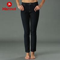 【活动价:420元 领券满200减40】Marmot/土拨鼠户外运动女士牛仔裤排汗吸湿透气休闲长裤