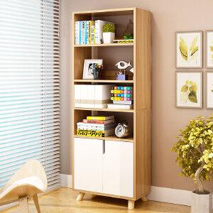 亿家达落地书架简易学生书柜简约现代飘窗置物架书橱多功能储物柜