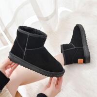 19珂卡芙冬季新款【帮面真皮】甜美风雪地靴舒适保暖可爱女靴