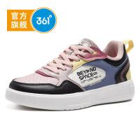 【折后叠券预估价:109】361度童鞋 女童运动休闲板鞋2021春季新款中大童运动鞋