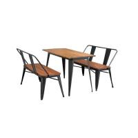 先创XC-ZY134休闲桌椅铁艺户外桌椅一桌两椅